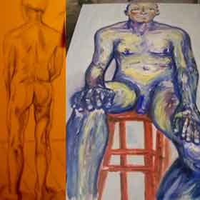nude artwork of Michael Hassell